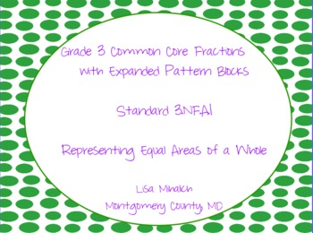 Common Core Fractions Using Expanded Pattern Blocks Flip Chart