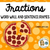 Fractions Word Wall and Sentence Frames