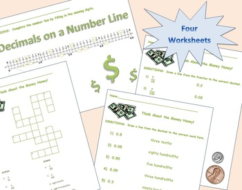 Common Core Fractions and Decimals Made Easy BUNDLE (tenths and hundredths)