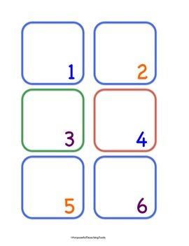 Common Core Math Friendly Calendar Pieces - Blank for Base Ten and CGI