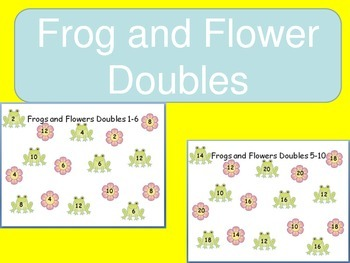 Common Core Frog and Flower Spring Addition Fact Doubles