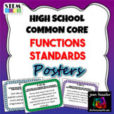 High School Common Core Functions Standard Posters
