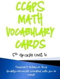 Common Core GPS 5th Grade Math Vocabulary Cards Unit 4