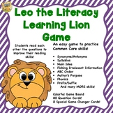Common Core Game!  Leo the Literacy Lion!  Great for SAT 10  review!