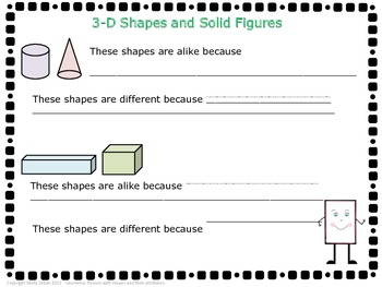 Common Core Geometry 3D Shapes