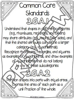 Math Assessments - Third Grade Geometry