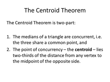 Common Core Geometry. Chapter 10. Triangle Centers