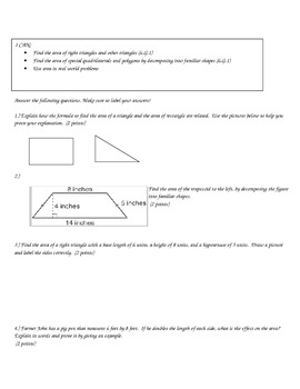 Common Core Geometry Checkpoint Bundle