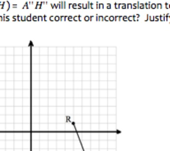 Common Core Geometry Composite Reflections Over Parallel Lines Practice (G.CO.5)