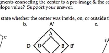 Common Core Geometry Dilations Ideas & Practice Rules & Pr