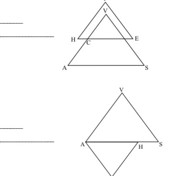 Common Core Geometry G.SRT.1 G.SRT.2 G.SRT.3 G.SRT.4 Assessment Questions
