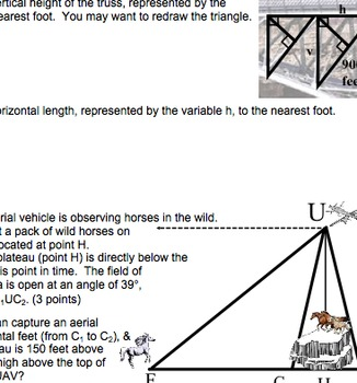 Common Core Geometry G.SRT.6, G.SRT.7, G.SRT.8, G.SRT.10, G.SRT.11 Trigonometry
