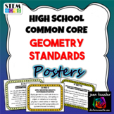 High School Math Common Core Geometry Standards Posters