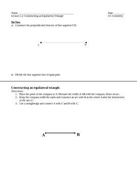 Common Core Geometry - Module 1 Lesson 2
