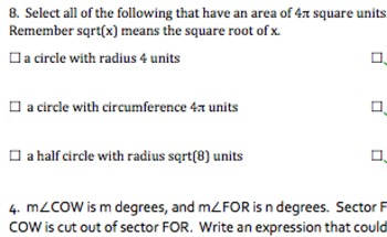 Common Core Geometry Practice (Area & Perimeter G.GMD.1, G.MG.1, & G.MG.2)
