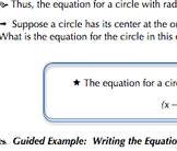 Common Core Geometry Practice (Circle Equation & Completing the Square G.GPE.1)