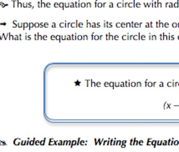 Common Core Geometry Practice (Circle Equation & Completin