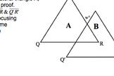 Common Core Geometry Practice (G.CO.10 & 11 Triangles & Quadrilaterals)