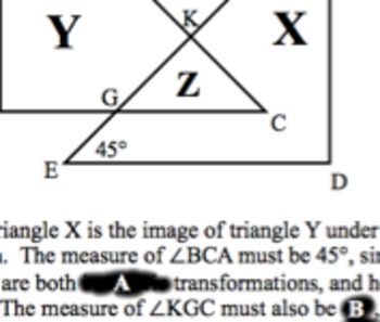 Common Core Geometry Practice (G.CO.10 Triangle Theorems &