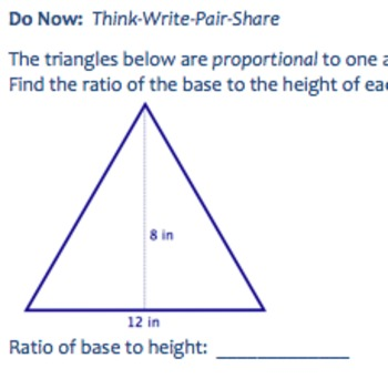 Common Core Geometry Practice (G.SRT.2 Proportions & Proportional Reasoning)