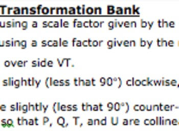 Common Core Geometry Practice (G.SRT.2 Similarity Using Transformations)