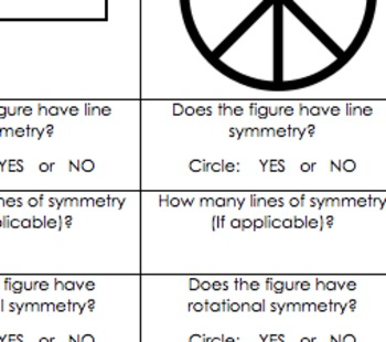 Common Core Geometry Practice (Symmetry, essential for developing G.CO.3+)