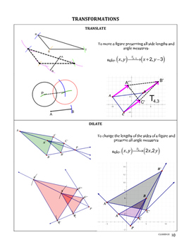 Common Core Geometry Reference Booklet