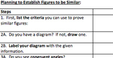 Common Core Geometry - Similarity Proofs Checklists & Organizers