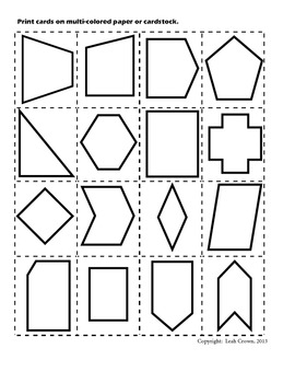 Geometry- Classifying 2 Dimensional Shapes Common Core Aligned
