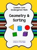 Common Core Geometry / Sorting assessment packet for Kindergarten