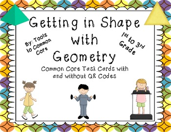 Common Core Geometry Task Cards with and without QR Codes