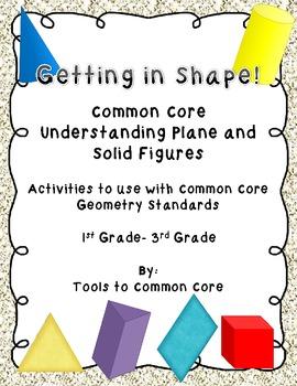 Common Core Geometry Understanding Plane and Solid Figures Activities
