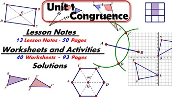 Common Core Geometry Unit #1 Congruence Teaching Materials