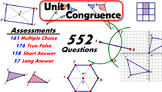 Common Core Geometry Unit #1 Congruence Assessment Materials