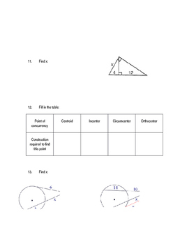 Common Core Geometry Unit 11 Test review