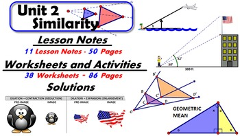 Common Core Geometry Unit #2 SimilarityTeaching Materials