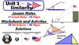 Common Core Geometry Unit #2 SimilarityTeaching Materials