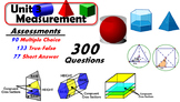 Common Core Geometry Unit #3 Measurement Assessment Materials