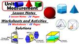 Common Core Geometry Unit #3 Measurement Teaching Materials