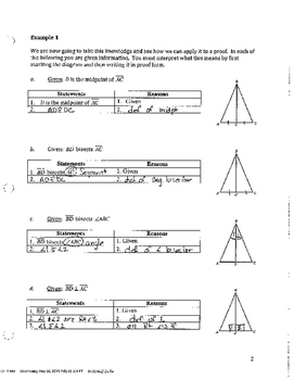 Common Core Geometry Unit 3 Notes Answer Key