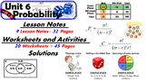 Common Core Geometry Unit #6 Probability Teaching Materials