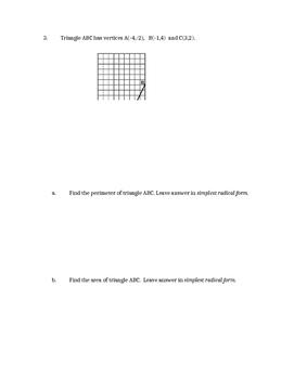 Common Core Geometry Unit 9 quiz