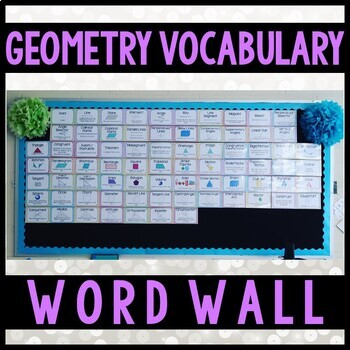 Common Core Geometry Word Wall Vocabulary Cards