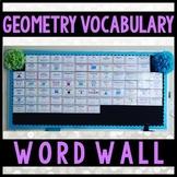 Geometry Word Wall for High School