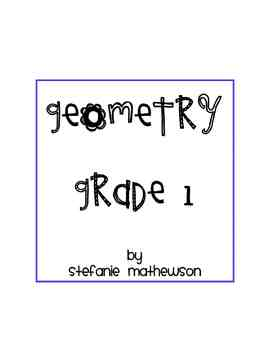 Common Core Geometry for First Grade!