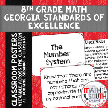 Georgia Standards of Excellence - 8th Grade Math - MGSE Posters