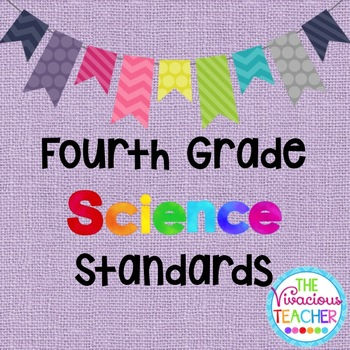 Common Core Georgia Performance Standards Posters Fourth Grade Science