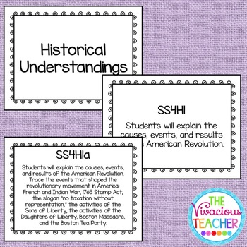 Common Core Georgia Performance Standards Posters Fourth Grade Social Studies