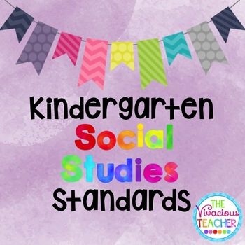 Common Core Georgia Performance Standards Posters Kindergarten Social Studies