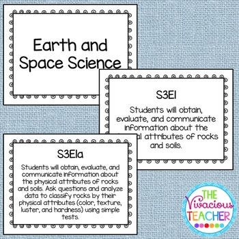 Common Core Georgia Performance Standards Posters Third Grade Science